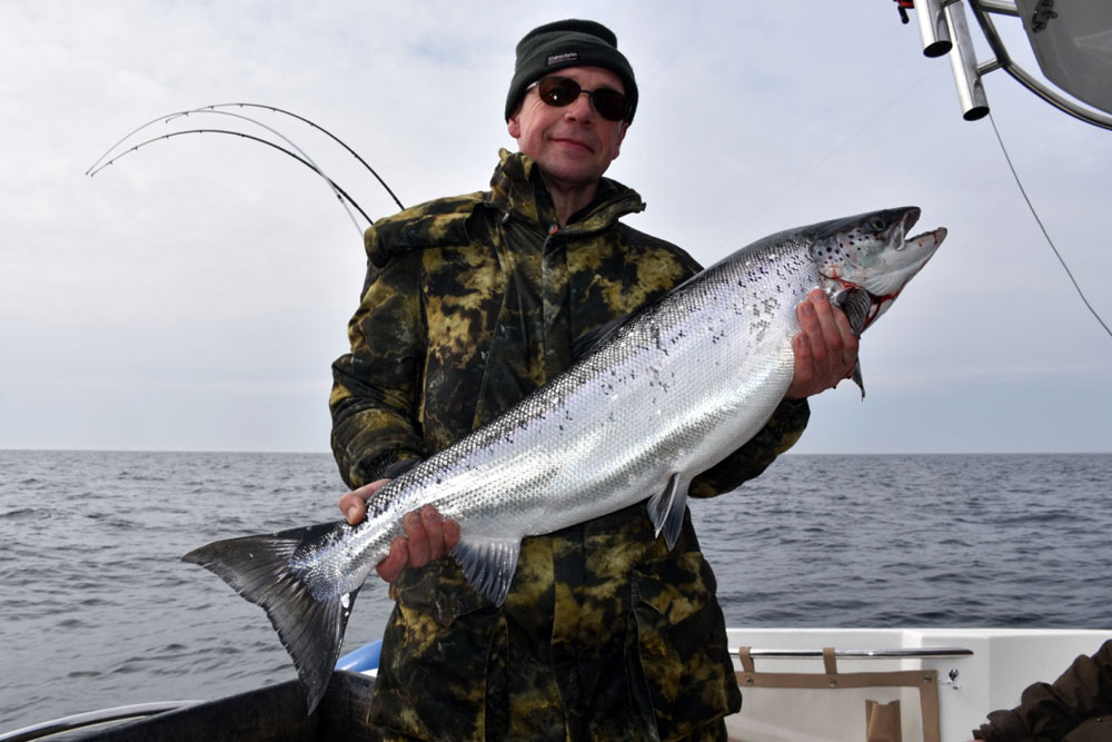 Lachsfischen in Polen